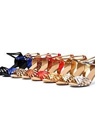 Zapatos de baile (Negro/Azul/Rojo/Oro/Otros) - Danza latina/Salón de Baile - No Personalizable