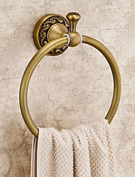 Modern Luxurious Antique Brass Carving Towel Ring