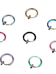 8 PC-Mischungsfarbe Clip Fake Punk-Nasen-Ohren Bauch Ringe