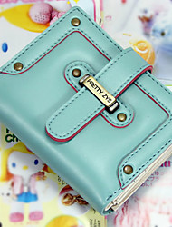 Women PU Casual Card & ID Holder - White / Blue / Yellow / Red / Black