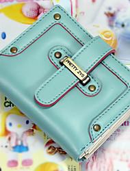 Porta Cartão - Feminino - Casual - PU - Branco / Azul / Amarelo / Vermelho / Preto