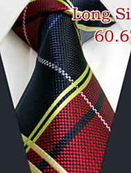 "ul21 shlax&alas rojas lazos corbata azul de moda a cuadros 63 vestido de ""tamaño extra largo"