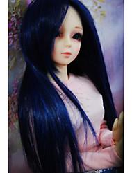 """Tita 1/3 8-9 """"dal msd pullip bjd sd luts souper dollfie poupée bleue mélange longue perruque"""