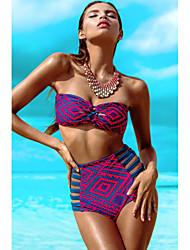 Damen Bikinis  -  Geometrisch Polyester/Elasthan
