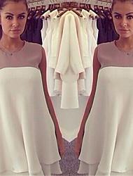 Women's Off-the-shoulder Dresses , Chiffon Sexy/Casual/Cute Sleeveless YaYiGe
