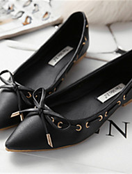 Women's Shoes  Flat Heel Pointed Toe Flats Casual Black/White/Gray