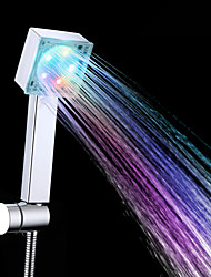 High Quality Contemporary A Grade ABS Chrome Finish 7 Colors LED Hand Shower - Silver