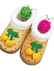 Baby Shoes Outdoor/Dress/Casual Cotton/Fleece/Fabric Slippers Blue/Yellow/Pink/Red