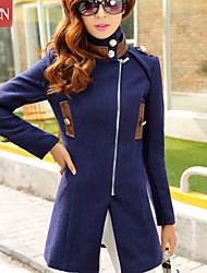 Muairen®Women'S Slim Stylish Long Pure Wool Coat Jacket