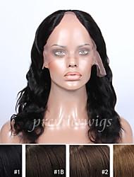 2015 más vendidos 14 '' - 16 '' onda naturales vírgenes pelucas de cabello humano indio u-parte pelucas del cordón con el pelo del bebé