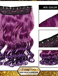 resistencia a altas temperaturas en dos tonos de 24 pulgadas de extensión peluca 5 clip de 16 colores disponibles f8