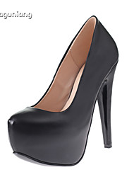 Women's Shoes Customized Materials Stiletto Heel Round Toe/Closed Toe Pumps/Heels Party & Evening/Casual Black