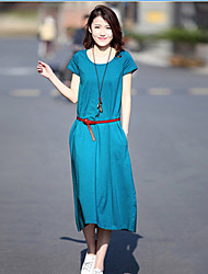 Women's Neckline Design Dress , Fabric Dress Length Sleeve Length
