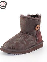 MG 2015 New Arrive Women's Winter Boots Flat Heel Boots Snow Boots Autumn Warm Twinface Sheepskin Shoes