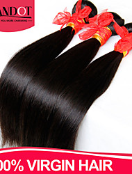 "4 Pcs Lot 8""-28"" Brazilian Straight Virgin Hair Weave Bundles Natural Black Tangle Free Soft Human Hair Extensions Wefts"
