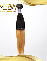 Good Cheap Brazilian Virgin Human Hair Silk Straight Ombre Hair Weaves 2 Tone 1B/27 Color 1PCS Only  8''-30''