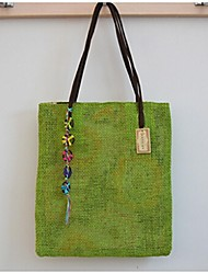 Women 's Acrylic Shopper Shoulder Bag - Green