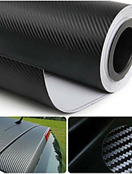 "glasswetis® simcarbon película vinilo de la fibra del carbón 3d abrigo negro de 12 ""x 50"" hoja"