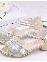 Girls' Shoes Casual Peep Toe  Sandals Pink/Silver/Gold