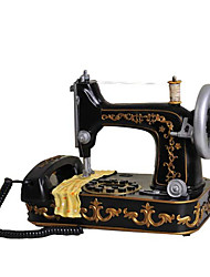 Novelty Fashion Creative Home Decoration Corded Sewing Machine Antique Telephone