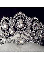 Women's Rhinestone Alloy Headpiece-Wedding Special Occasion Tiaras 1 Piece