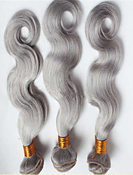 3Pcs/Lot Brazilian Virgin Hair Body Wave Hair Brazilian Silver Grey Body Wave Bundle Human Hair Weave Extensions
