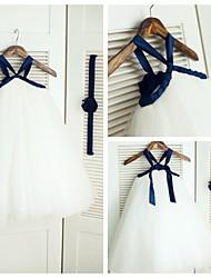 Princess Tea-length Flower Girl Dress - Tulle Sleeveless