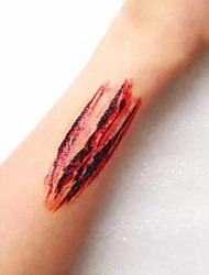 5Pcs Zombie Horror Fancy Wound Scars Gore Halloween Costume Temporary Tattoo Sticker