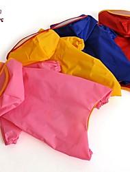 Katzen / Hunde Regenmantel Hundekleidung Frühling/Herbst einfarbig Wasserdicht / Cosplay