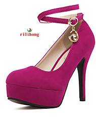 Women's Shoes Stiletto Heel Heels / Platform / Round Toe / Closed Toe Heels Party & Evening / Dress / Casual Coral