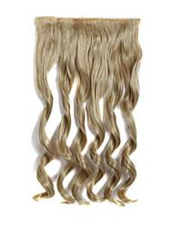24 pulgadas de largo y rizado 120g 5 clip en extensiones de cabello sintético resistente al calor
