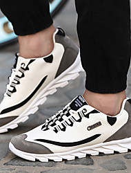 Fashion Brand Men's Running Shoes Leatherette / Rubber Black / Blue / White