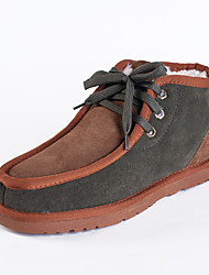 Men's Winter Shoes Casual Suede Boots, Wool Lining Materials, More Colors Available