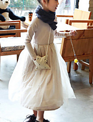 Vestido Chica de - Invierno / Otoño - Mezcla de Algodón - Manga Corta