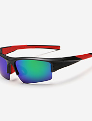 Sunglasses Men's Classic / Lightweight / Sports / Polarized Wrap Black / White / Red / Blue Sunglasses Half-Rim