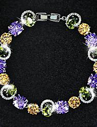 Copper Bracelets and Bangles New Design Colorful Zircon Bracelet Women Diamond Bracelet