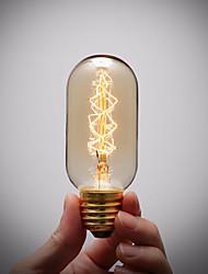 soquete da lâmpada de cobre puro retro do vintage e27 artístico lâmpada de filamento incandescente de 40W industrial