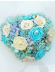 Décorations ( Bleu / Rose / Vert , Satin / Dentelle ) Roses