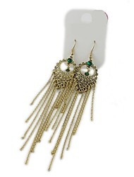 The Court All-Match Personality Retro Tassel Earrings(1 pairs)