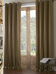 TWOPAGES Jackson Collection Solid Insulated Thermal Blackout Polyester Curtain Drape One Panel