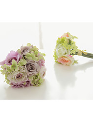 Bouquets ( Rose / Vert , Satin / Satin élastique ) Roses