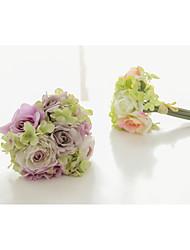 Buquês ( Rosa / Verde , Cetim / Cetim Elástico ) - de Rosas