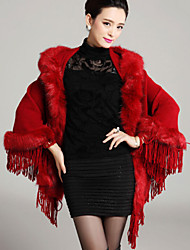 Wedding  Wraps / Fur Coats / Hoods & Ponchos Capelets Sleeveless Faux Fur / Imitation CashmereBlack / Burgundy / Dark Navy / Royal Blue /
