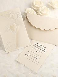 Имя, надпись на заказ Тройной сгиб Свадебные приглашения Пригласительные билеты-50 Шт./набор Розовая бумага