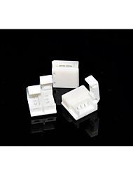 5 pcs conector solderless 4-pinos para 10mm 5050 rgb único à prova d'água tira luzes LED