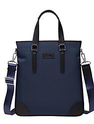 X.BNJ  Men Briefcase High-end Soft Genuine Leather with Oxford Cloth Men Business Handbag Vintage Shoulder Bags