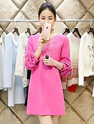 Vestido de maternidad Mini Raso - Escote Redondo Manga Larga