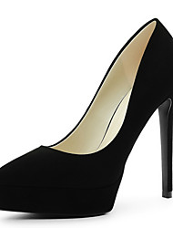 Women's Shoes MOOLECOLE® Suede Chunky Heel Pointed Toe Heels Wedding / Party & Evening / Dress Black / Yellow / Red