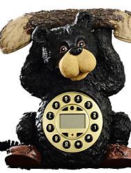 la mode rural nouveauté créative forme d'ours haltérophilie téléphone antique