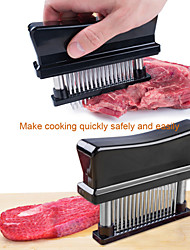 Beittal Kitchen Tool 48 Stainless Steel Blades Meat Tenderizer with Cleaning Brush - 1 Set (Square)